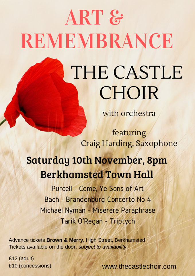 The Castle Choir Remembrance Concert Nov 2019